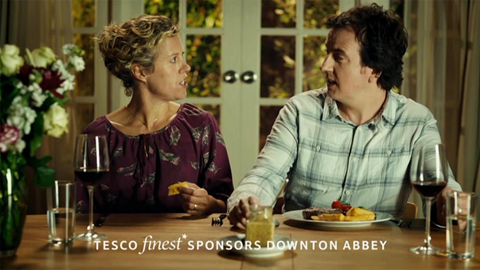 Tv spon current tesco downton abbey